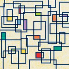 Papel Challenged - loco de los cuadrados