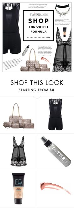 """TwinkleDeals Fashion"" by shambala-379 ❤ liked on Polyvore featuring Maybelline and WithChic"