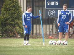 Higuain e Messi in allenamento