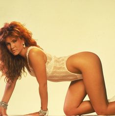 Tawny Kitaen  Rolled around on the hood of a luxury car in a Whitesnake video then hooked up with David Coverdale.