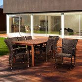 Found it at Wayfair - Amazonia Blackwater 9 Piece Dining Set