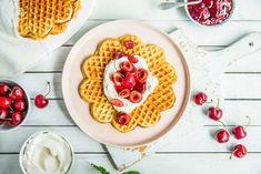 Vafler med kulturmelk Breakfast, Food, Baking Soda, Morning Coffee, Meal, Essen, Hoods, Meals, Morning Breakfast