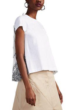f94baac230d Sacai Women s Bandana-Print Cotton Swing T-Shirt - Black in 2019 ...
