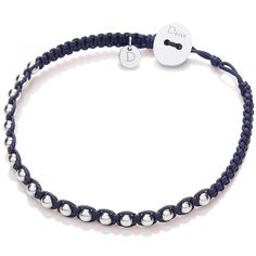 New from Daisy Jewellery is this Palm Beach friendship bracelet featuring 18 smooth sterling silver rocks woven into a deluxe navy silk cord.  Finished with a wafer-thin 925 silver button and two silk rope button loops; this Palm Beach friendship bracelet is the ultimate in free-spirited luxury. Measuring 0.5cm in width and 19cm in length, the silver beads measure 0.3mm.