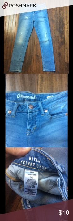 Aeropostale size 000 jeans Blue Aeropostale skinny jeans size  000 new with out tags, feel free to ask any questions. Aeropostale Jeans Skinny