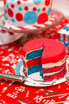 36 Ideas baby shower ides dr seuss thing 1 thing 2 for 2019 Dr Seuss Party Ideas, Dr Seuss Birthday Party, 2nd Birthday Parties, Birthday Ideas, Ideas Party, Twin First Birthday, Baby Birthday, Birthday Cake, Dr Seuss Cake
