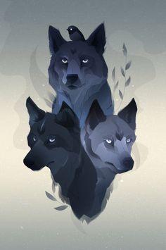 eatsleepdraw:  Them Wolves  Nina...