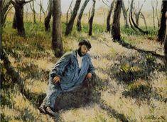 Gustave CAILLEBOTTE «Le Père Magloire allongé dans un bois»--Peint en 1884 - Localisation: Genève, musée du Petit Palais