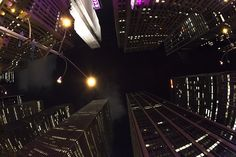 W 50th St and Avenue of Americas/6th Avenue, New York, NY #nyc #ny #skyscraper #night #lights #street