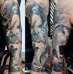 Full Sleeve Tattoo - 80+ Awesome Examples of Full Sleeve Tattoo Ideas  <3 <3