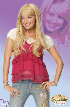 "Ashley Tisdale, The Suite Life Poster    Ashley Tisdale is known as playing Maddie Fitzpatrick on the Disney Channel Original Series The Suite Life of Zack & Cody and Sharpay Evans in the Disney Channel Original Movie High School Musical. Measures: 22"" x 34"".  http://www.hollywoodmegastore.com/cgi-bin/VirtualCatalog3/CatalogMgr.pl?cartID=b-4435&SearchField=partnumber&SearchFor=6658&template=Htx/posters.htx  Only: $8.99"