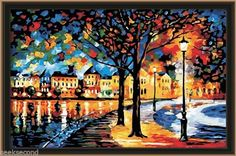 Paint by Number kit 80x60cm (31x23.5'') Charming Night Painting DIY PBN RH10035