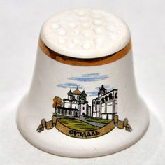 сувенирный наперсток, Россия, керамика, достопримечательность, Суздаль церкви