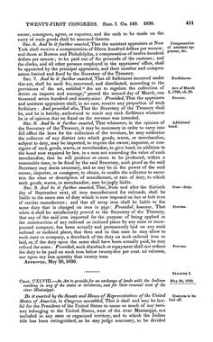A Century of Lawmaking for a New Nation: U.S. Congressional Documents and Debates, 1774 - 1875