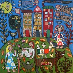 "Rebecca Cool  ""A Country Scene"""