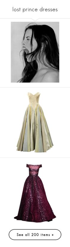 """lost prince dresses"" by aftergold ❤ liked on Polyvore featuring dresses, gowns, long dresses, vestidos, blue, brooklyn museum, ivory, silk, long blue dress and silk evening gowns"