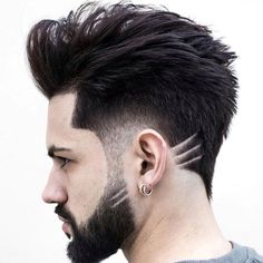 Quiff hairstyles haircuts make men look classy if styled correctly with proper and appropriate hair product. Mens Hairstyles With Beard, Quiff Hairstyles, Cool Hairstyles For Men, Hair And Beard Styles, Haircuts For Men, Curly Hair Styles, Cool Haircuts, Guy Haircut Styles, Blowout Haircut
