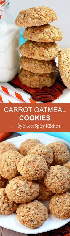 Yummy cookies, perfect for the start of the day, a snack or when you crave for something sweet - Carrot Oatmeal Cookies, so tasty and delicious ♥
