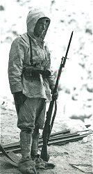 Guerra Bianca | Un Alpino in divisa d'alta montagna
