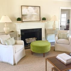 Anna Burke Interiors On Instagram Pretty Light At Our Bronxville Project Love The Way This Silk Velvet Ottoman Turned Out Recovered EBay Purcha