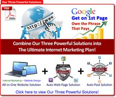 Our Three Powerful Solutions. Combine our three powerful solutions for the ultimate Internet marketing plan. Marketing Websites, Marketing Companies, Marketing Plan, Internet Marketing, Social Media Marketing, Website Design, First Website, Search Engine Marketing, Seo Services