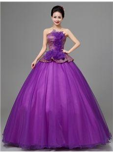 オフショルダーデザインの編み上げの綺麗目ロングドレス 披露宴ドレス