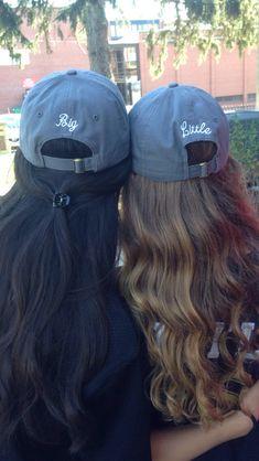 Big Little Reveal matching hats ➡️➡️ TheTurnipSeed.com