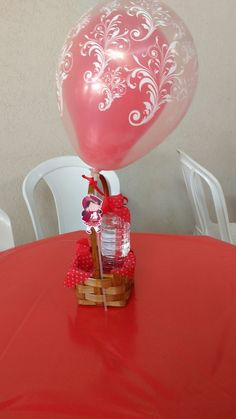 Centro de mesa chapeuzinho vermelho
