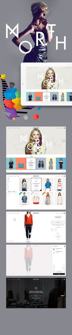 Webdesign | Webshop | Parallax | North by Aykut Yilmaz Published by Maan Ali