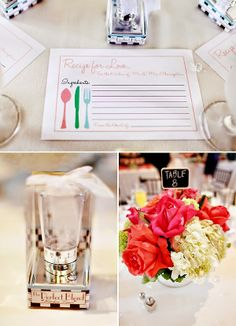 Kitchen Wedding Shower Ideas | Wedding Shower Table Decoration. http://simpleweddingstuff.blogspot.com/2014/06/kitchen-wedding-shower-ideas.html