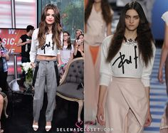 Selena Gomez looked sexy, stylish and comfy when she hit up New Music Live in Toronto earlier today. She wore a cute Viktor & Rolf Cropped Cable Knit Sweater from the label's Spring/Summer 2013 collection. The non-cropped version of this sweater is available for a cool $582 on thecorners.com.  Buy it HERE  Thanks savannadee  She's also wearing Bionda Castana 'Elizabeta' shoes