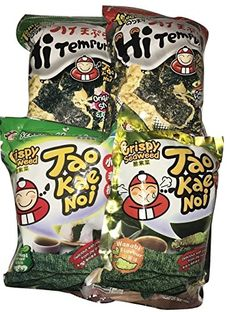 Tao Kae Noi Seaweed Snack Variety Flavour Pack of 4 >>> Check this awesome product by going to the link at the image.Note:It is affiliate link to Amazon.