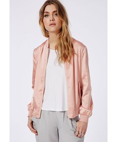Missguided - Padded Bomber Jacket Khaki | Fallin' | Pinterest ...