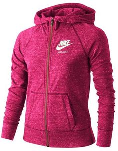 d8d9c8020442 Sale  32.90  Nike Gym Vintage  Zip Hoodie (Big Girls) Sizes 8 up to 16 also  in purple and grey