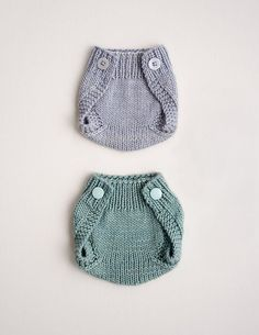 Knitting pattern: Baby diaper covers by Courtney Kelley
