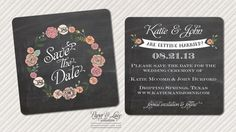A save the date that looks like chalkboard ... it would match the other chalkboard stuff I anticipate doing...