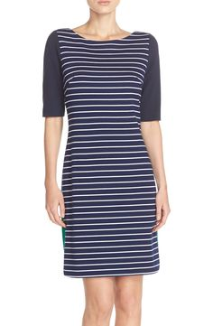 d222a3ffe9d Eliza J Stripe Ponte Shift Dress Dresses For Sale