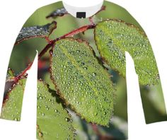 Dewy green Autumn Leaves Long Sleeve Shirt from Print All Over Me