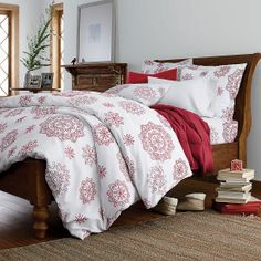 Crystal Snowflake Flannel Sheets & Bedding Set | The Company Store