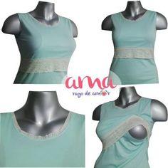 Pijama ideal para usar durante el embarazo y la lactancia.  #ropadelactancia #lactancia