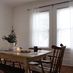"a-joyfuljourney: ""Alison Little "" Cottage Farmhouse, White Cottage, Kitchen Dining, Dining Table, Aging Wood, Organic Living, Open Window, Slow Living, Falling Apart"