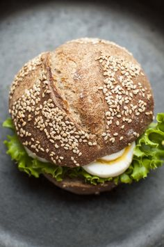 Whole grain wheat sourdough hamburger buns with tarragon | My Daily Sourdough Bread