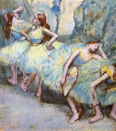 Ballet Dancers in the Wings - Degas Edgar.  Professional Artist is the foremost business magazine for visual artists. Visit ProfessionalArtistMag.com.- www.professionalartistmag.com