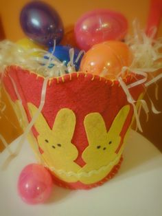 All Things With Purpose: Felt Easter Basket {Free Pattern}