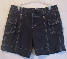 Athleta Black Sport Shorts Cotton Nylon Cargo Hiking Walking SZ 4 Excellent #Athleta #Shorts