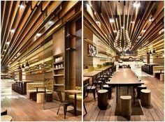 感受流动无阻碍空间,深圳 gaga 鲜语咖啡馆店铺设计