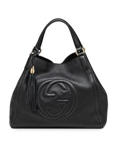 Soho Leather Shoulder Bag, Black by Gucci at Neiman Marcus.