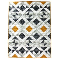 The Nordic Triangles Quilt pattern is a modern quilt design uses simple half square triangles to achieve a stunning, complex look. Triangle Quilt Pattern, Patchwork Quilt Patterns, Modern Quilt Patterns, Patchwork Bags, Quilting Patterns, Modern Baby Quilts, Sewing Patterns, Baby Boy Quilt Patterns, Crazy Patchwork