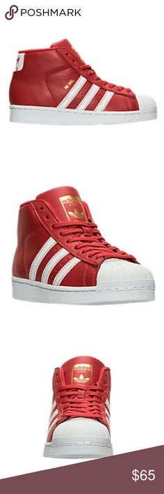 Boys Youth Adidas Pro Model J sz 5 Red/White New in box. adidas Shoes Sneakers