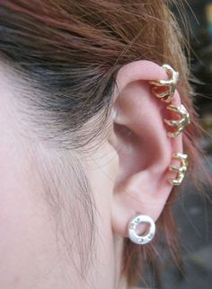 Exaggerated Trachypenaeus ear clip without pierced ears, cheap fashion earring ,shop at www.costwe.com